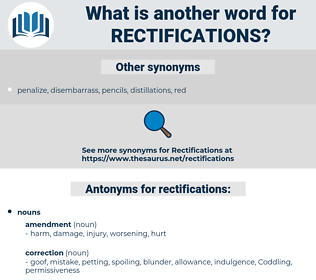 rectifications, synonym rectifications, another word for rectifications, words like rectifications, thesaurus rectifications