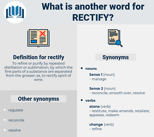 rectify, synonym rectify, another word for rectify, words like rectify, thesaurus rectify