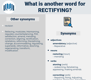 Rectifying, synonym Rectifying, another word for Rectifying, words like Rectifying, thesaurus Rectifying