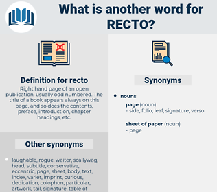 recto, synonym recto, another word for recto, words like recto, thesaurus recto
