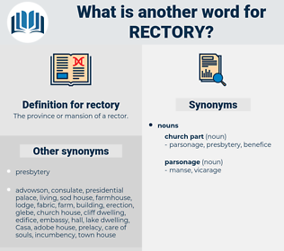 rectory, synonym rectory, another word for rectory, words like rectory, thesaurus rectory