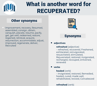 Recuperated, synonym Recuperated, another word for Recuperated, words like Recuperated, thesaurus Recuperated