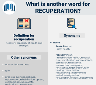 recuperation, synonym recuperation, another word for recuperation, words like recuperation, thesaurus recuperation