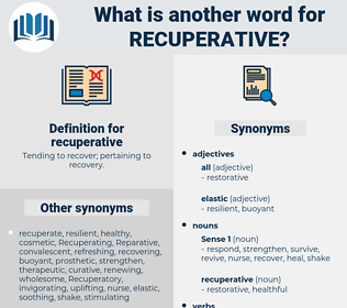 recuperative, synonym recuperative, another word for recuperative, words like recuperative, thesaurus recuperative