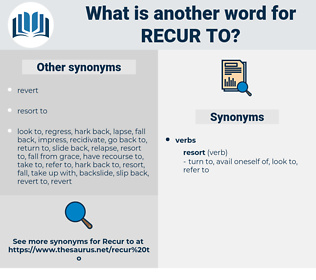 recur to, synonym recur to, another word for recur to, words like recur to, thesaurus recur to