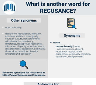 recusance, synonym recusance, another word for recusance, words like recusance, thesaurus recusance