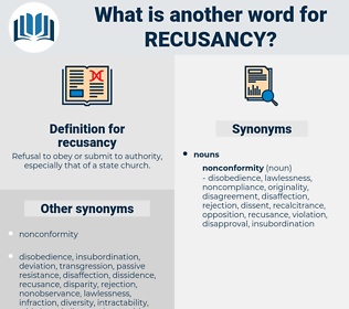 recusancy, synonym recusancy, another word for recusancy, words like recusancy, thesaurus recusancy
