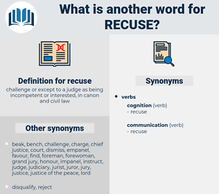 recuse, synonym recuse, another word for recuse, words like recuse, thesaurus recuse
