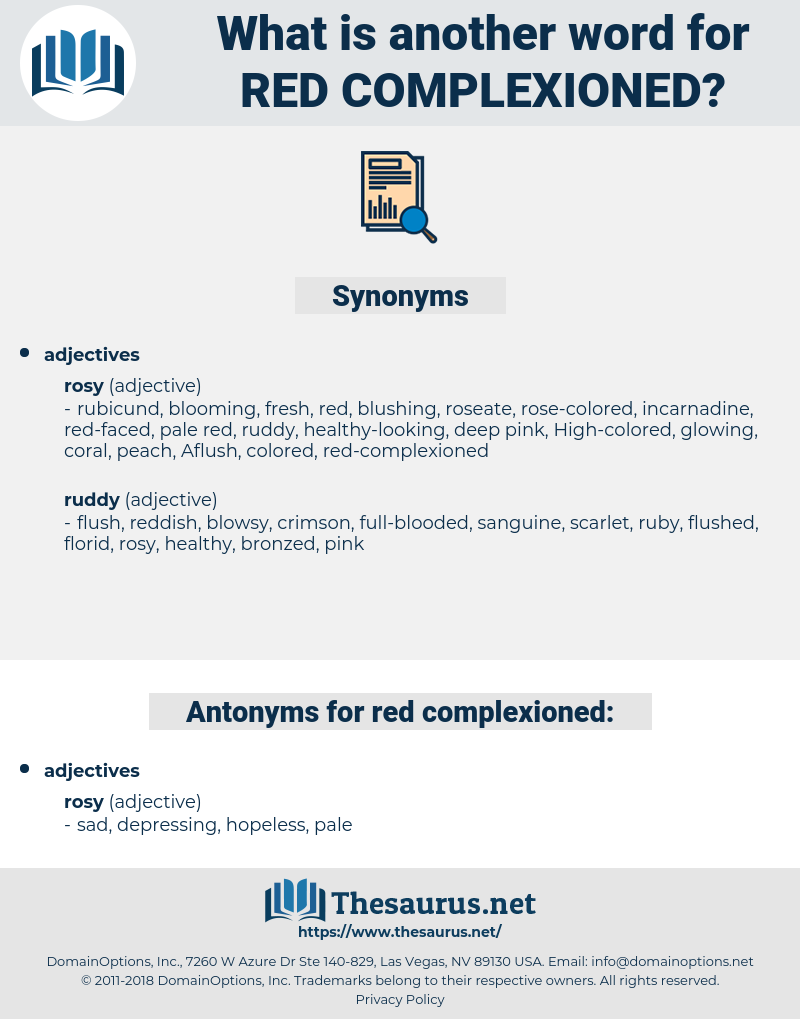 red-complexioned, synonym red-complexioned, another word for red-complexioned, words like red-complexioned, thesaurus red-complexioned