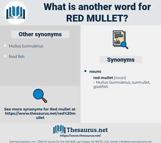 red mullet, synonym red mullet, another word for red mullet, words like red mullet, thesaurus red mullet