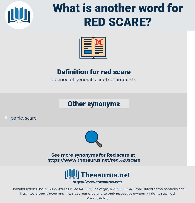 red scare, synonym red scare, another word for red scare, words like red scare, thesaurus red scare