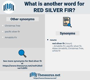 red silver fir, synonym red silver fir, another word for red silver fir, words like red silver fir, thesaurus red silver fir
