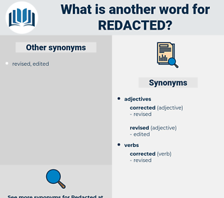redacted, synonym redacted, another word for redacted, words like redacted, thesaurus redacted