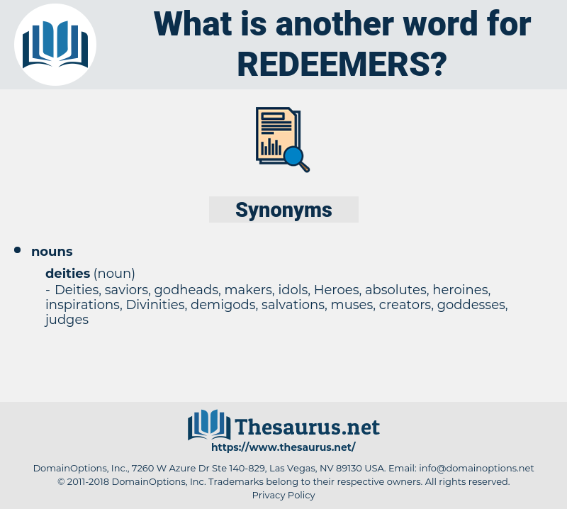 redeemers, synonym redeemers, another word for redeemers, words like redeemers, thesaurus redeemers