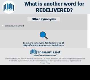 redelivered, synonym redelivered, another word for redelivered, words like redelivered, thesaurus redelivered