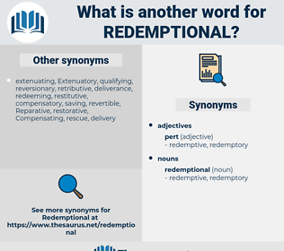redemptional, synonym redemptional, another word for redemptional, words like redemptional, thesaurus redemptional