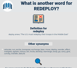 redeploy, synonym redeploy, another word for redeploy, words like redeploy, thesaurus redeploy