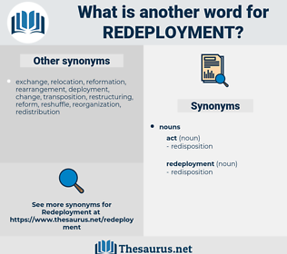 redeployment, synonym redeployment, another word for redeployment, words like redeployment, thesaurus redeployment