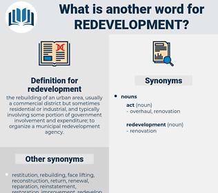 redevelopment, synonym redevelopment, another word for redevelopment, words like redevelopment, thesaurus redevelopment