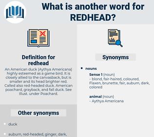 redhead, synonym redhead, another word for redhead, words like redhead, thesaurus redhead