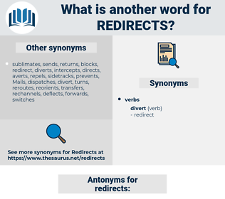 redirects, synonym redirects, another word for redirects, words like redirects, thesaurus redirects