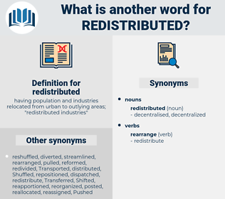 redistributed, synonym redistributed, another word for redistributed, words like redistributed, thesaurus redistributed