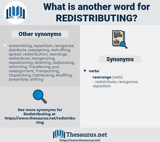redistributing, synonym redistributing, another word for redistributing, words like redistributing, thesaurus redistributing