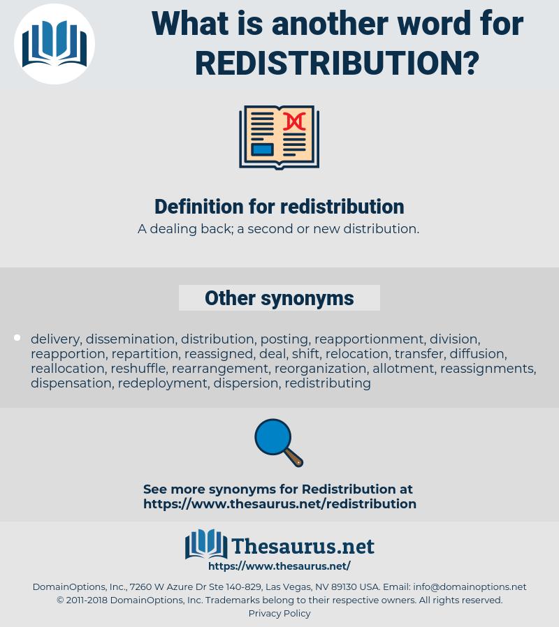 redistribution, synonym redistribution, another word for redistribution, words like redistribution, thesaurus redistribution