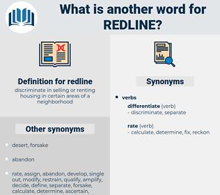 redline, synonym redline, another word for redline, words like redline, thesaurus redline