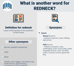 redneck, synonym redneck, another word for redneck, words like redneck, thesaurus redneck