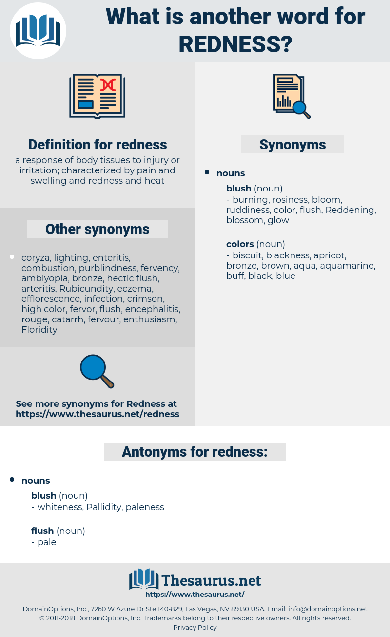 redness, synonym redness, another word for redness, words like redness, thesaurus redness
