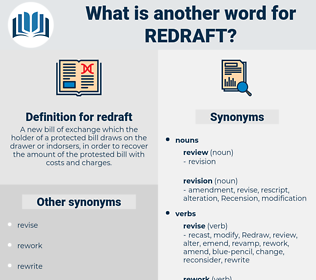 redraft, synonym redraft, another word for redraft, words like redraft, thesaurus redraft