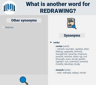 Redrawing, synonym Redrawing, another word for Redrawing, words like Redrawing, thesaurus Redrawing