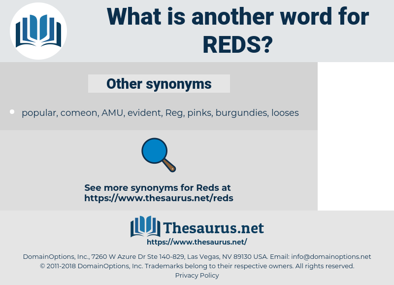 REDS, synonym REDS, another word for REDS, words like REDS, thesaurus REDS