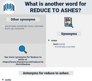 reduce to ashes, synonym reduce to ashes, another word for reduce to ashes, words like reduce to ashes, thesaurus reduce to ashes