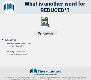 reduced, synonym reduced, another word for reduced, words like reduced, thesaurus reduced