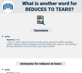 reduces to tears, synonym reduces to tears, another word for reduces to tears, words like reduces to tears, thesaurus reduces to tears