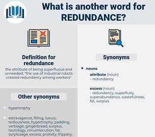 redundance, synonym redundance, another word for redundance, words like redundance, thesaurus redundance