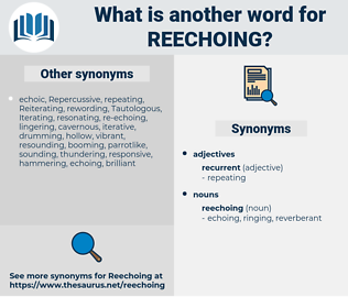 reechoing, synonym reechoing, another word for reechoing, words like reechoing, thesaurus reechoing