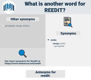 reedit, synonym reedit, another word for reedit, words like reedit, thesaurus reedit