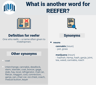 reefer, synonym reefer, another word for reefer, words like reefer, thesaurus reefer