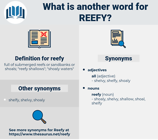 reefy, synonym reefy, another word for reefy, words like reefy, thesaurus reefy