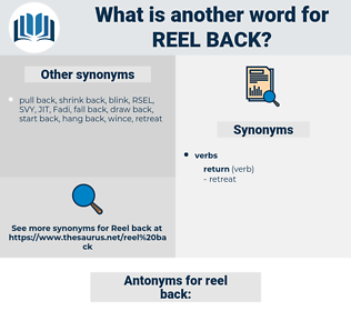 reel back, synonym reel back, another word for reel back, words like reel back, thesaurus reel back