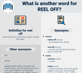 reel off, synonym reel off, another word for reel off, words like reel off, thesaurus reel off