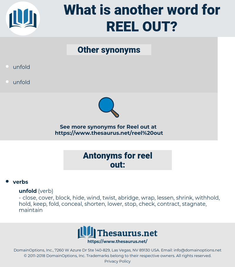 reel out, synonym reel out, another word for reel out, words like reel out, thesaurus reel out