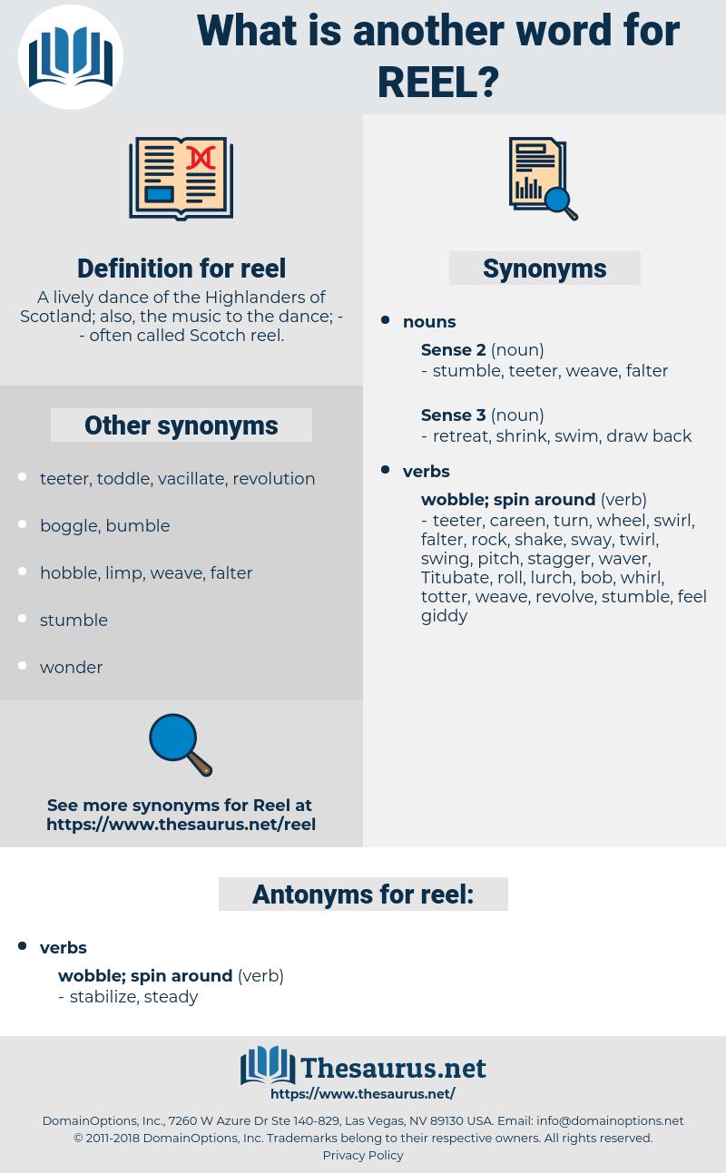 reel, synonym reel, another word for reel, words like reel, thesaurus reel