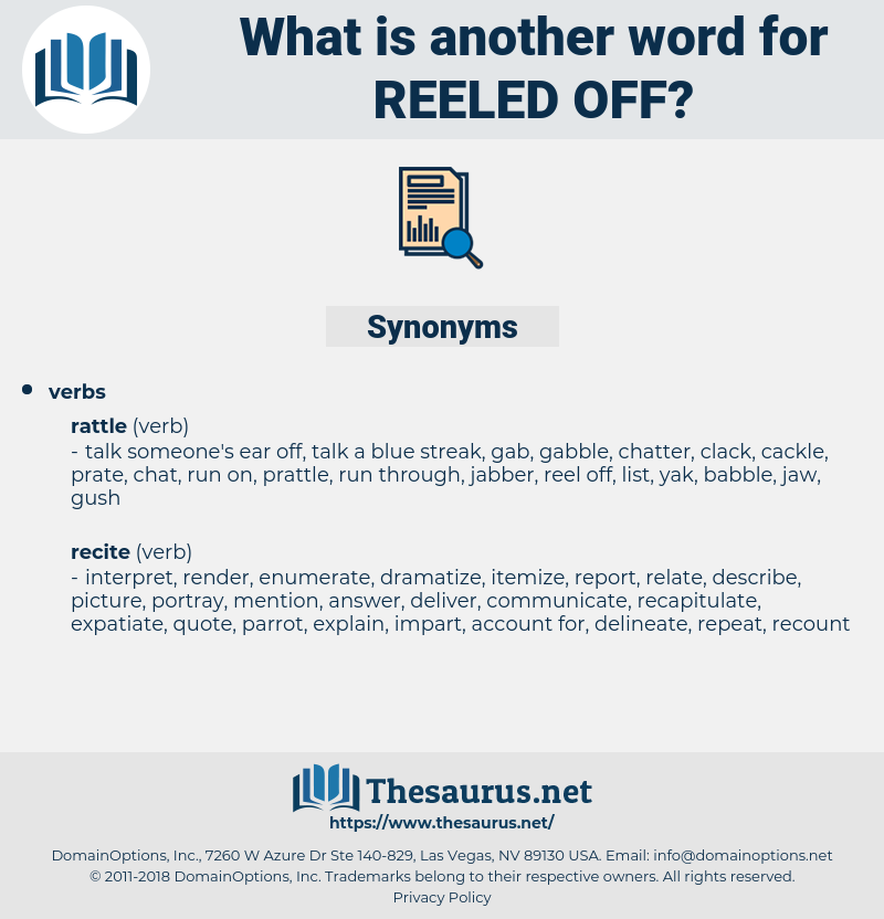 reeled off, synonym reeled off, another word for reeled off, words like reeled off, thesaurus reeled off