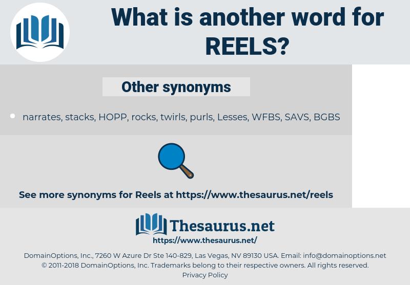 REELS, synonym REELS, another word for REELS, words like REELS, thesaurus REELS