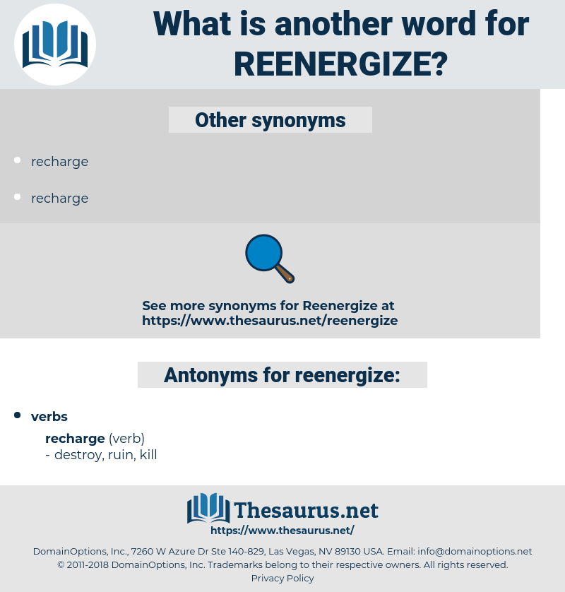 reenergize, synonym reenergize, another word for reenergize, words like reenergize, thesaurus reenergize