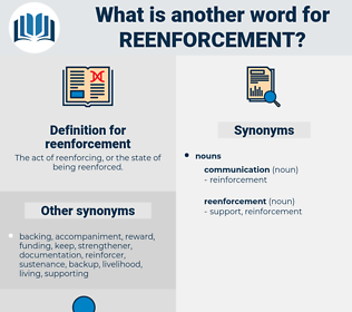 reenforcement, synonym reenforcement, another word for reenforcement, words like reenforcement, thesaurus reenforcement